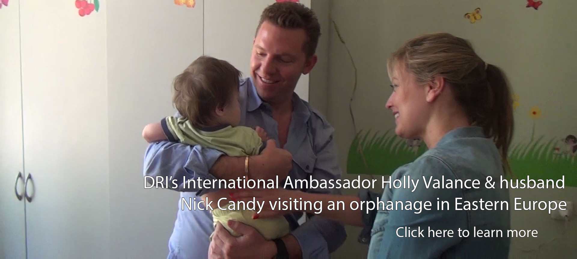 DRI International Ambassador Holly Valance and Nick Candy